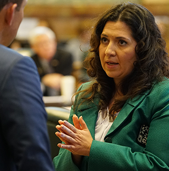 DU Alumna Crisanta Duran, first Latina speaker of the Colorado House of Representatives.