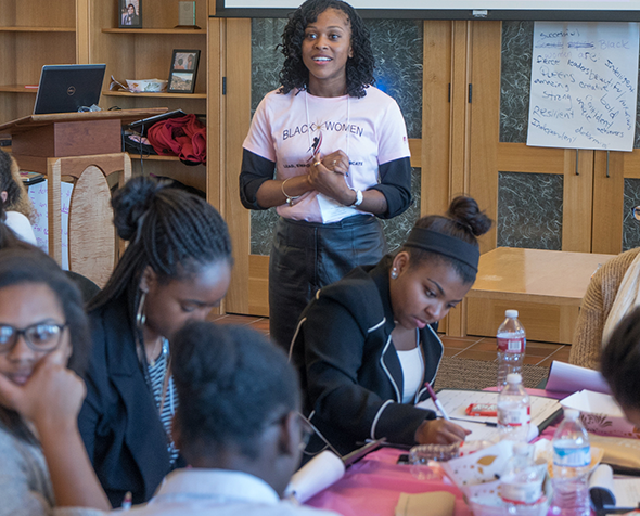 Students at the Black Women Lead Empower Aspire and Dedicate Summit.