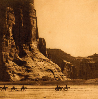 Photograph of Native Americans by Edward Curtis.