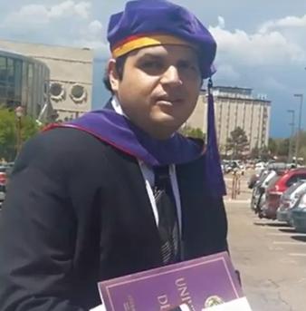 DU Alum Edgar Barraza earns admission to the Colorado Bar Association.