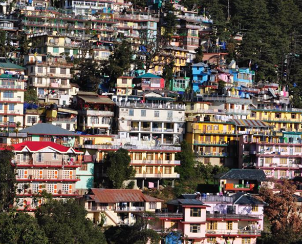 Photo of dense housing in Dharamsala, India