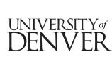 University of Denver Logo Text