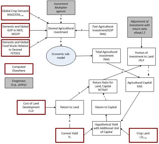 agricultural investment and capital flowchart