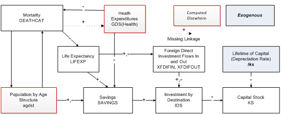 health to capital stock flowchart