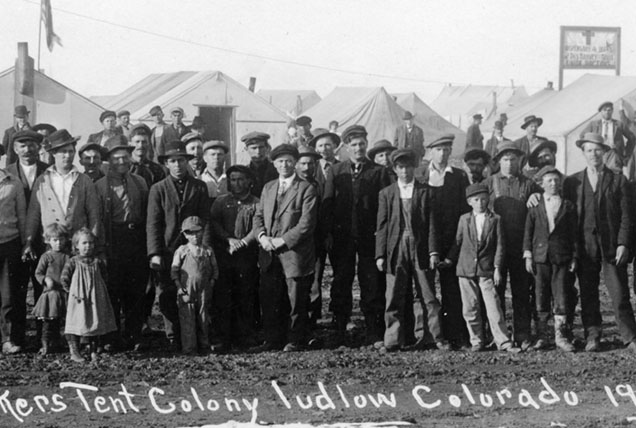 Detail of strikers Ludlow Tent Colony 1914. & Life in Ludlow 2