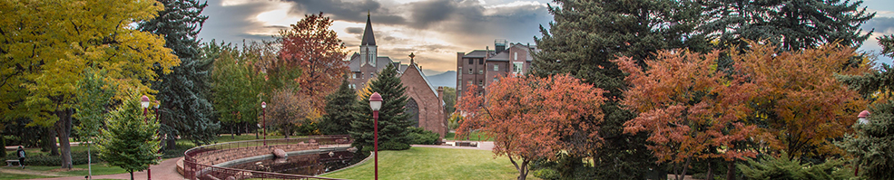 Evening Photo of University of Denver Campus at Sunset