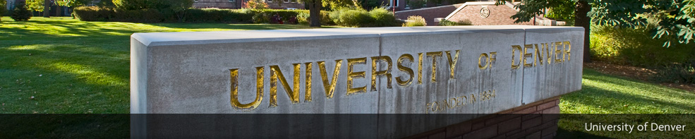 University of Denver sign