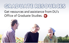 Graduate Resources - Get resources and assistance from DU's Office of Graduate Studies