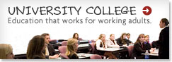 Learn more about University College for working adults