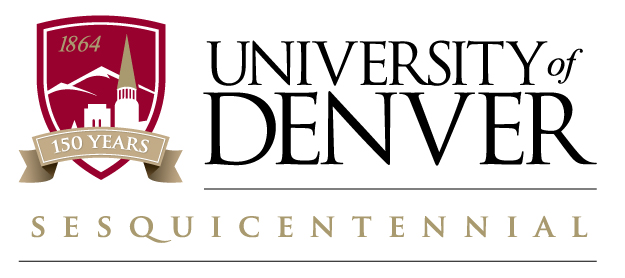 University of Denver sesquicentennial logo
