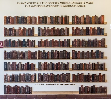AAC donor book wall