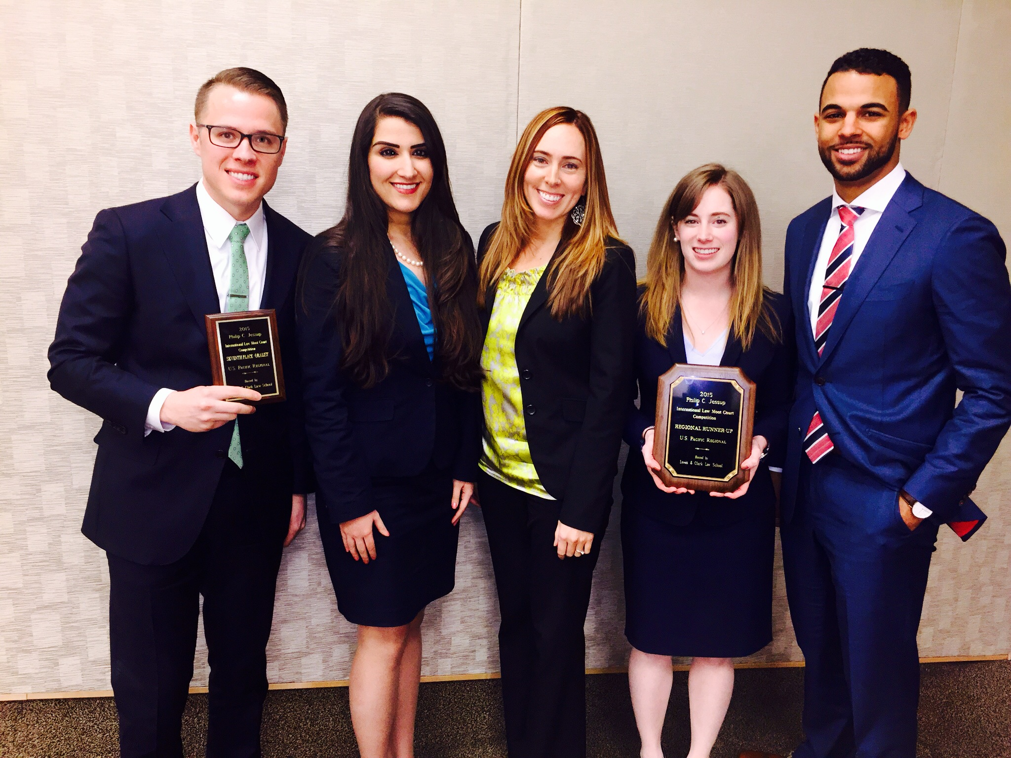 Jessup 2015 team members: J. Matt Thornton, Maral Shoaei, Megan Matthews, Alex Jennings, Philip Nickerson