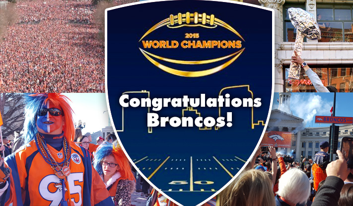 DU joins Bronco's Superbowl rally