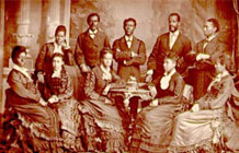 Historical photo of African Americans in the 19th century