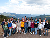 Members of DU's Alpine Club explore the Rocky Mountains