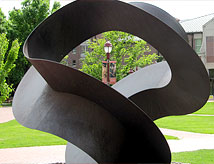 Sculpture on campus