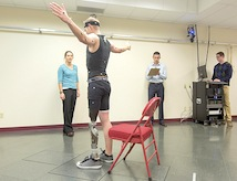 Students and faculty conduct tests in DU's Human Dynamics Lab.