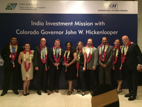 JB Holston was part of a delegation from Colorado taking part in a trade mission to India