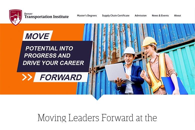 transportation institute webpage screenshot