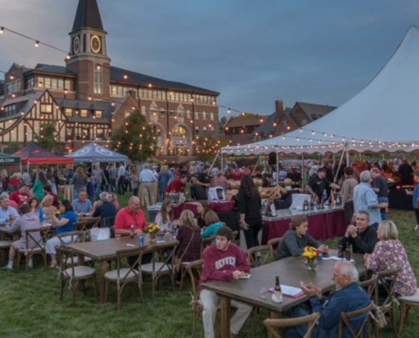 Attendees enjoy University of Denver homecoming and family weekend.