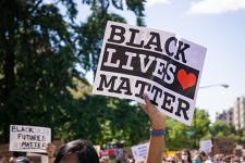 Black Lives Matter sign at a rally