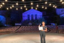 "Nelson on the set for CSF's ""Much Ado About Nothing"""
