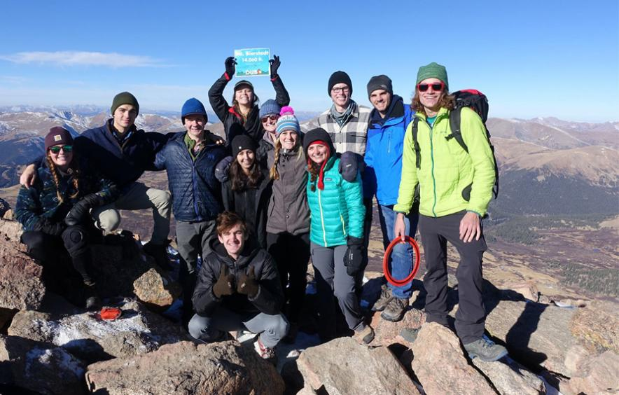 members of the backpacking club