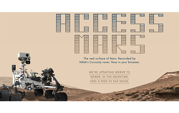 "picture of mars rover with text ""access mars"""