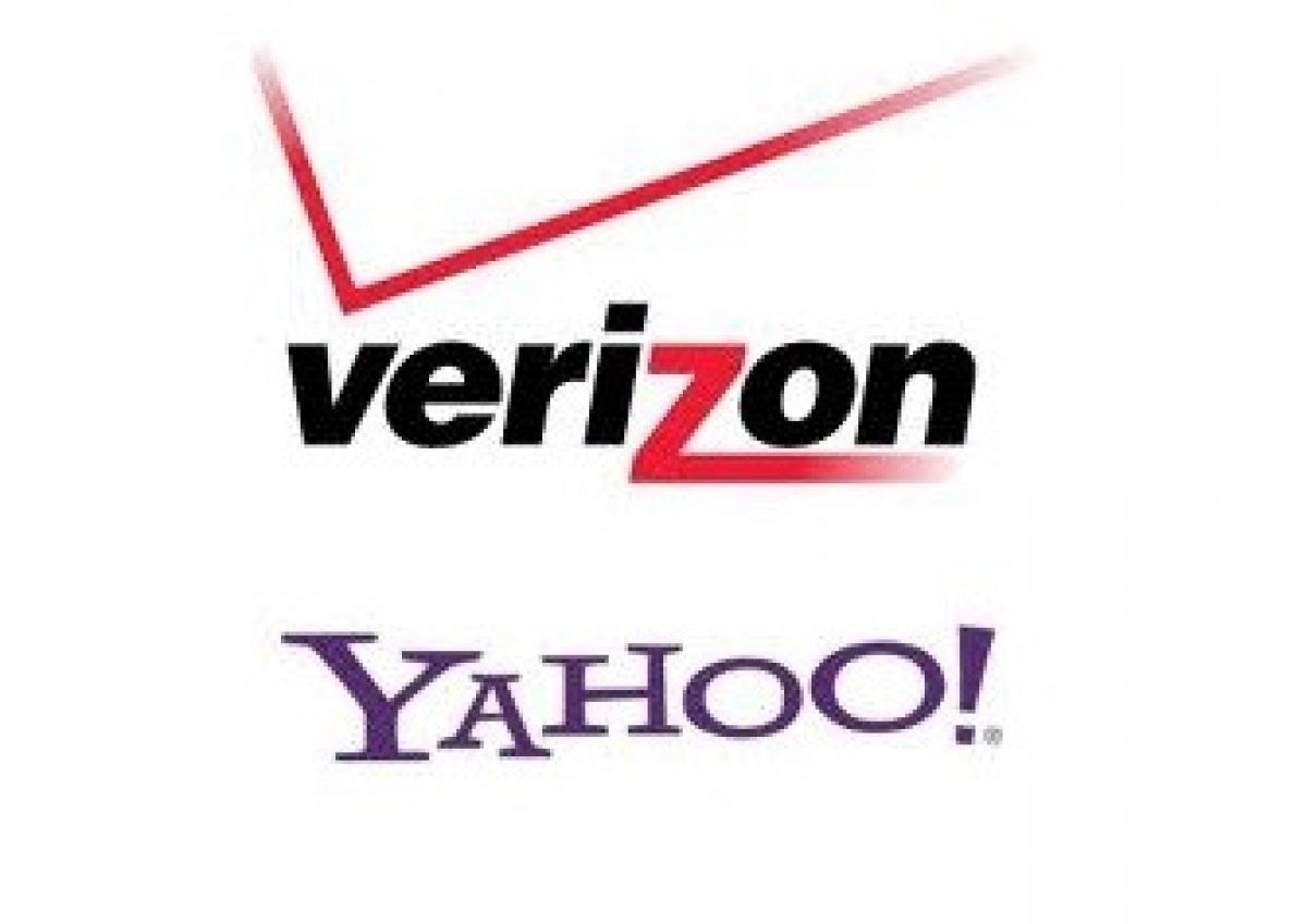 Verizon and Yahoo Logos