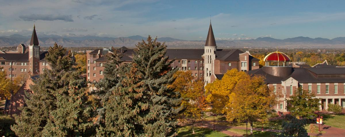 DU Campus and mountains