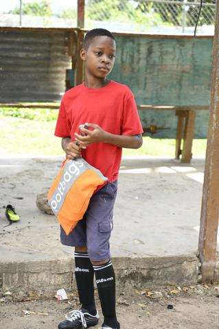 Boy with Bootbag