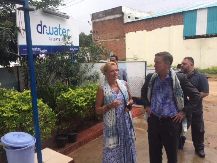Colorado delegation visits dr. water which provides drinking water to 5 million people across India