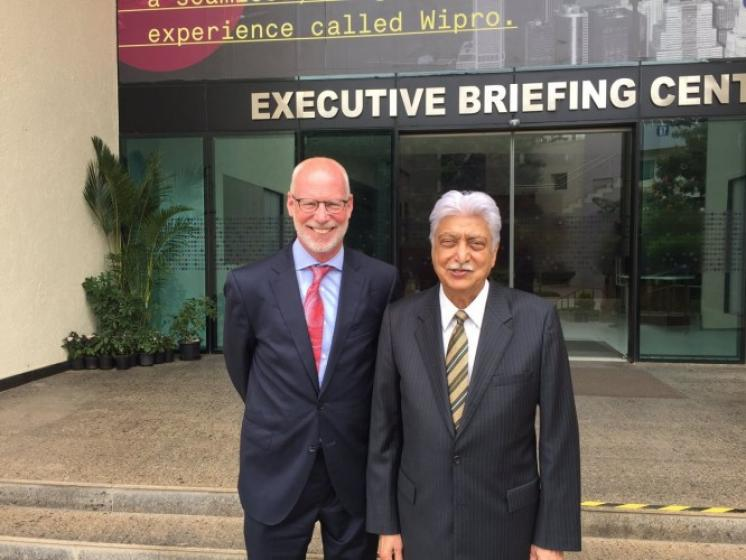 Holston meets with Azim Premji, founder of Wipro Limited