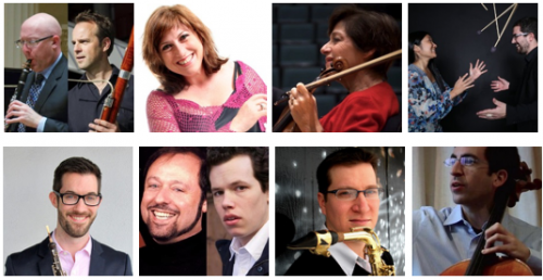 (L to R Top) Jeremy Reynolds & Martin Kuuskmann, Anita Wardell, Miriam Fried, arx duo, (L to R Bottom) Ian Wisekal, Steven Mayer & Matthew Plenk, Wil Swindler, and Amir Eldan