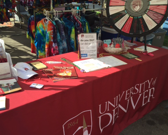 DU table at Denver PrideFest