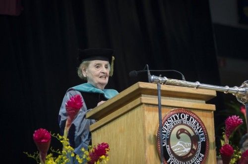 Madeleine Albright at Commencement