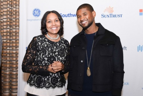Yvette Cook and Usher