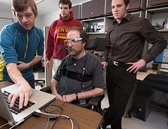 University of Denver students research spinal cord and brain injuries.