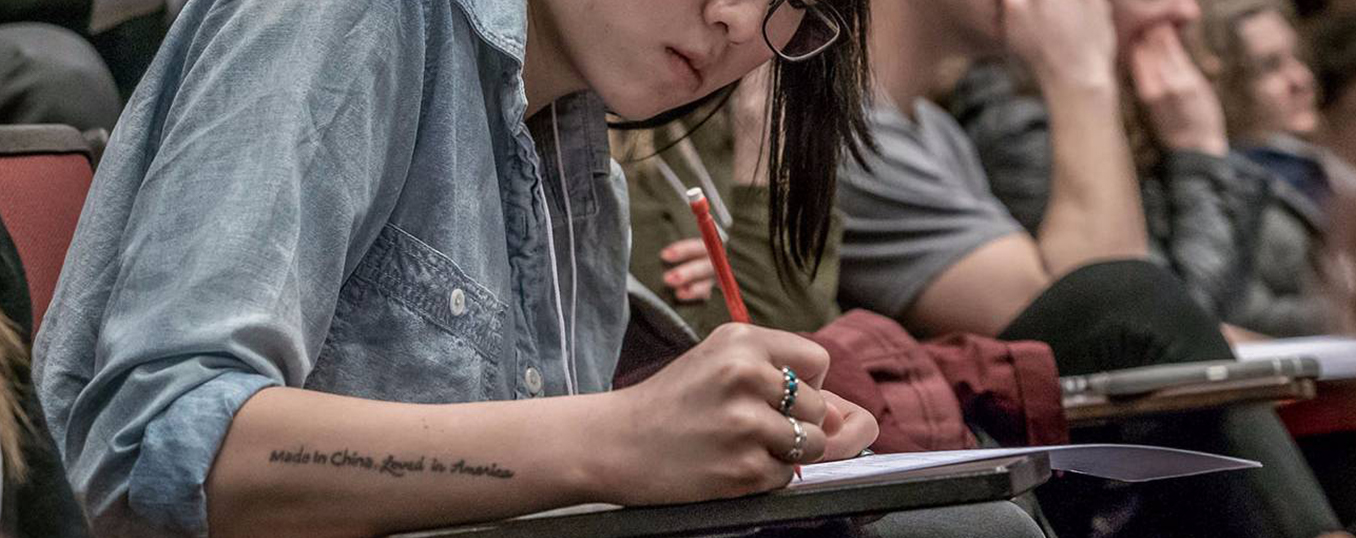 Student with the tattoo