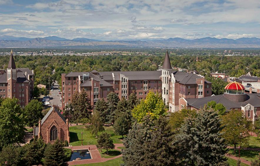 photo of campus and mountains