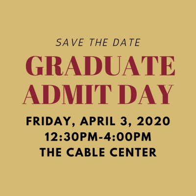 Admit Day Save The Date