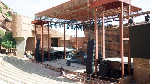 The Red Rocks stage