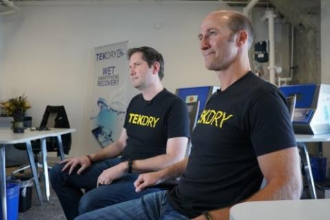 Tekdry's Adam Cookson and Craig Beinecke