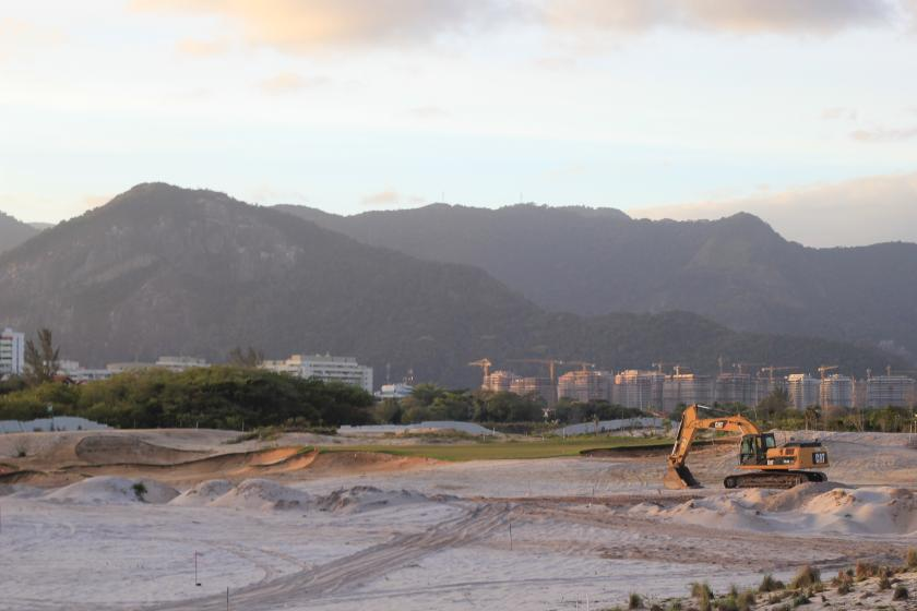The Olympic Golf Course Construction of hole #15