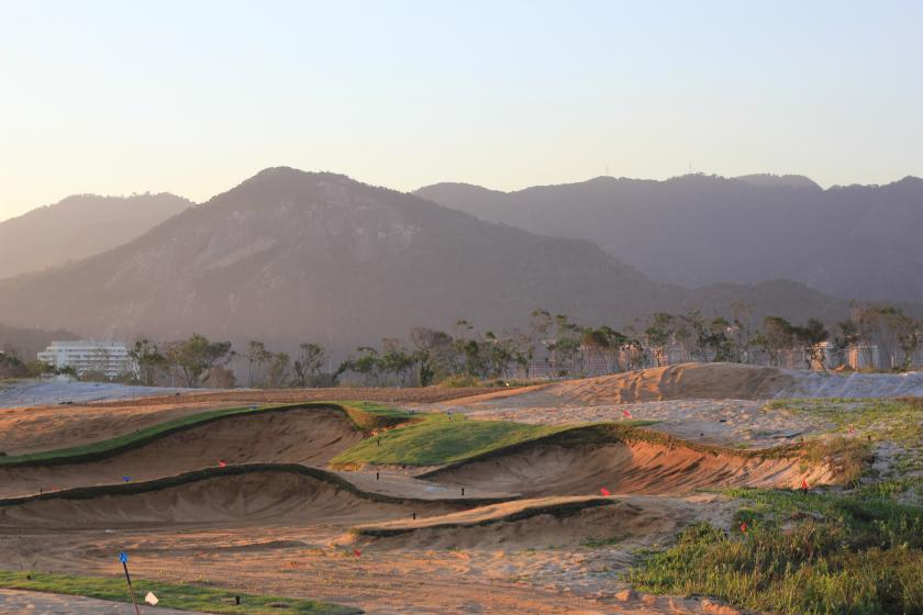 The Olympic Golf Course Hole #5 during construction