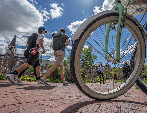 picture of bicycle on campus