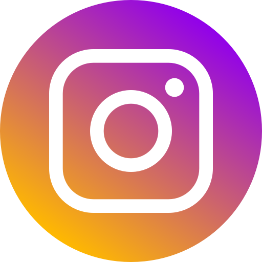 Instagram logo: white camera outline on shaded purple circle