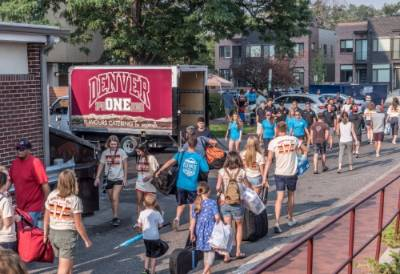 Move-in day at University of Denver